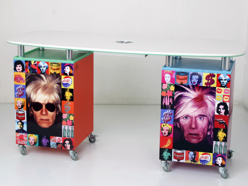 Manicure table in memory of Andy Warhol